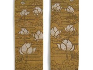 蓮の畳袈裟(折五条)~貴重な蓮の糸で縫い上げた袈裟~